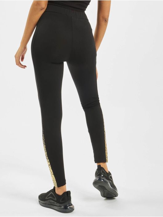 Sik Silk Leggings/Treggings Foil Fade Panel czarny