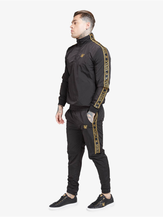 Sik Silk Lightweight Jacket Quarter Zip Funnel Neck black