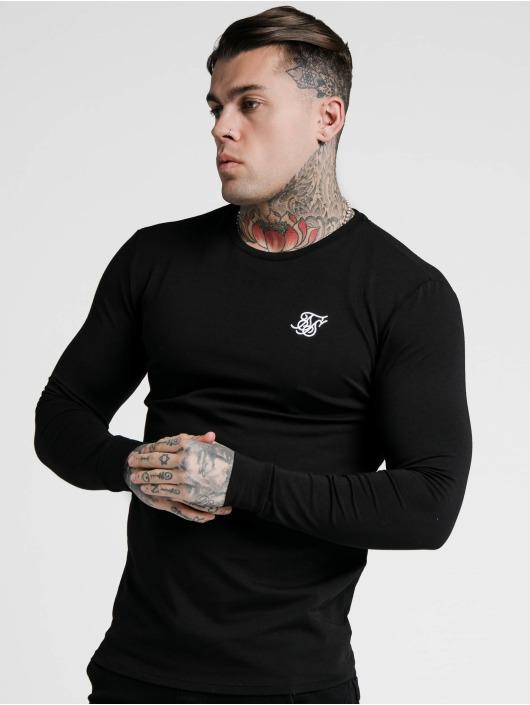 Sik Silk Longsleeve Hem Gym black