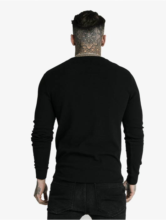 Sik Silk Longsleeve Button Down black