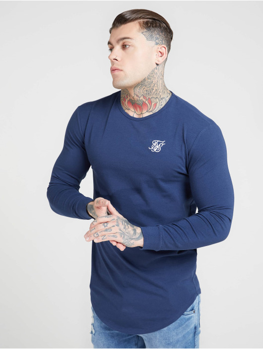Sik Silk Longsleeve Core Gym blau