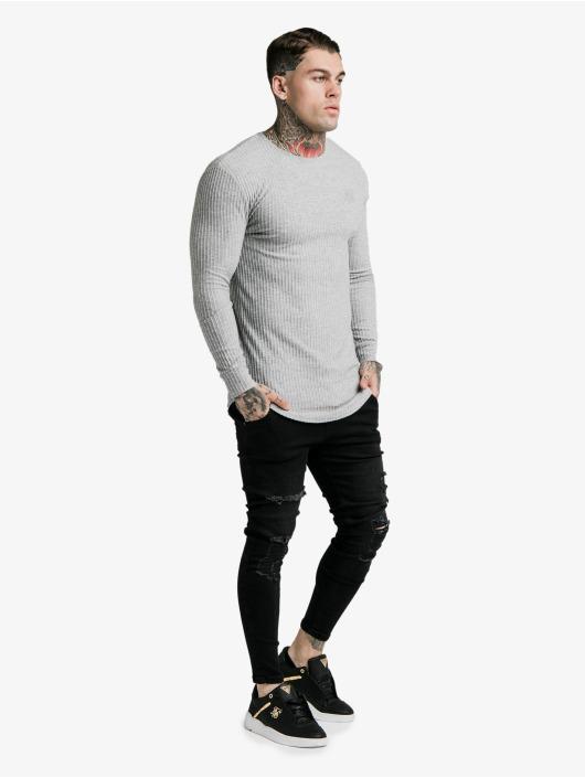 Sik Silk Longsleeve Brushed Rib Knit Gym gray