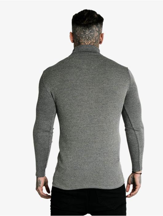 Sik Silk Longsleeve Rib Turtle Neck grey