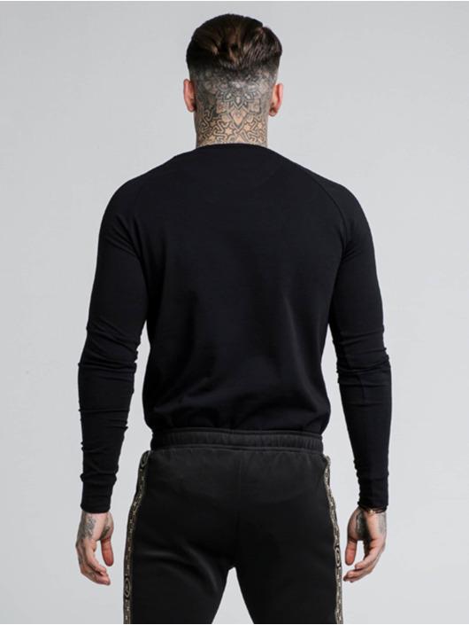 Sik Silk Longsleeve Cartel Gym zwart