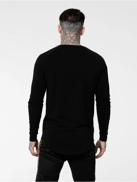 Sik Silk Longsleeve Foil Fade Panel zwart