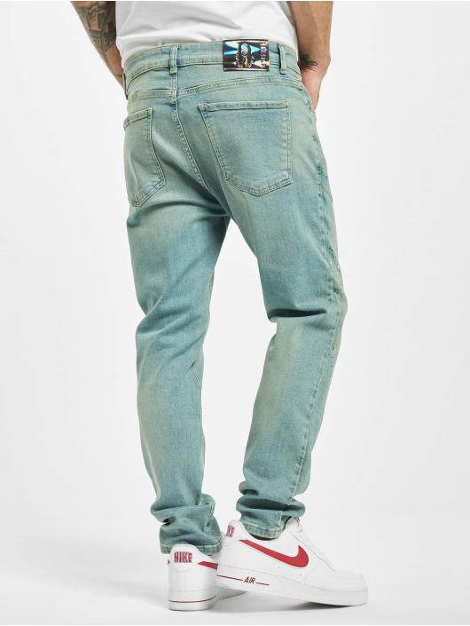 Sik Silk Loose Fit Jeans Steve Aoki Riot Loose Fit niebieski