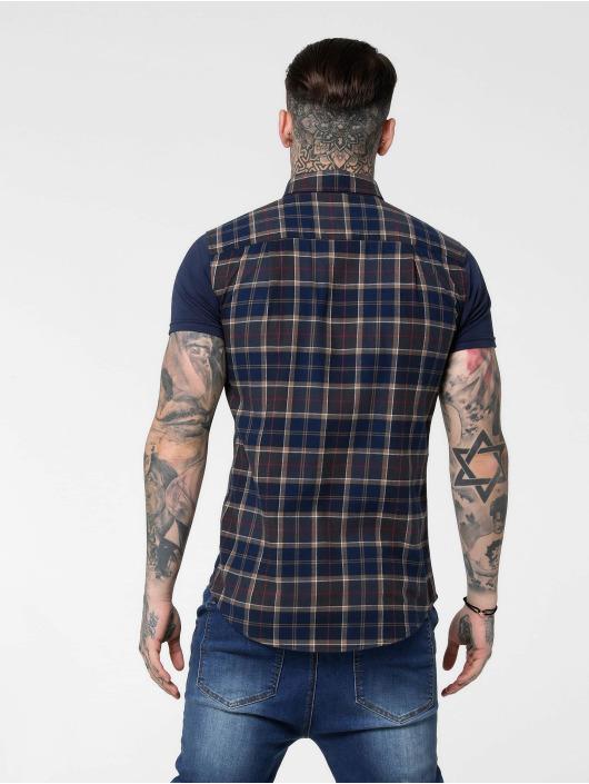 Sik Silk overhemd Flannel Standard blauw