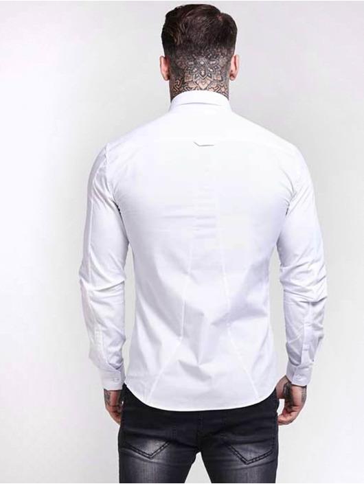 Sik Silk overhemd Cotton Stretch wit