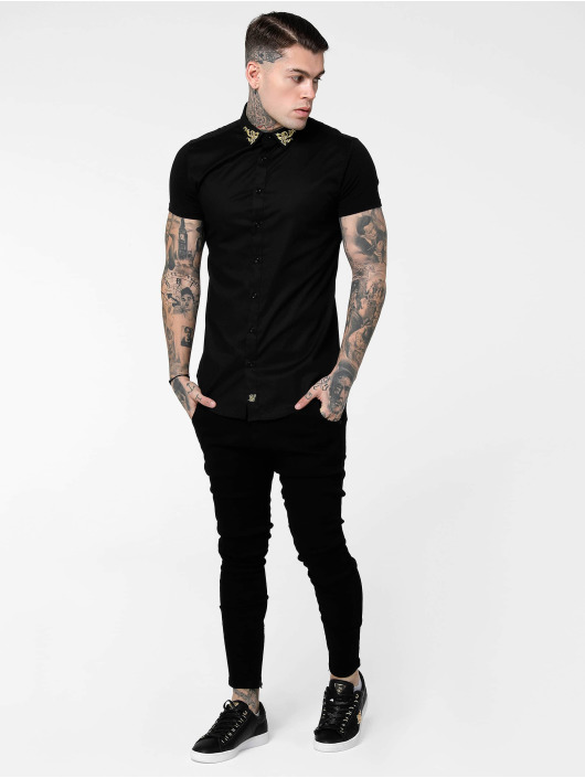 Sik Silk overhemd Venetian zwart