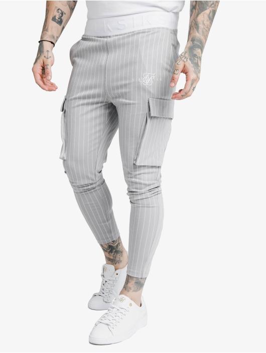 Sik Silk Pantalon cargo Dual Stripe gris