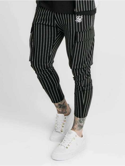 Sik Silk Pantalon cargo Siksilk Pinstripe noir