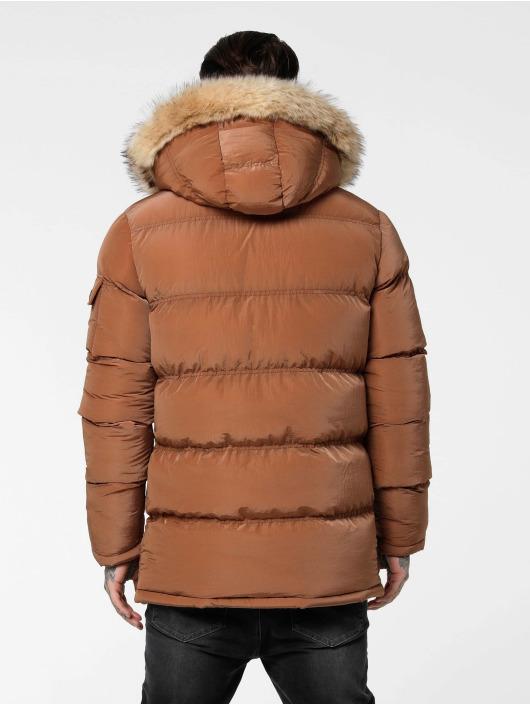 Sik Silk Puffer Jacket Shiny braun