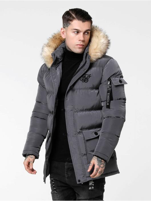 Sik Silk Puffer Jacket Shiny grey