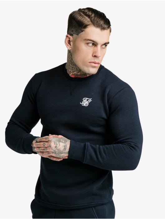 Sik Silk Pullover Crew blau