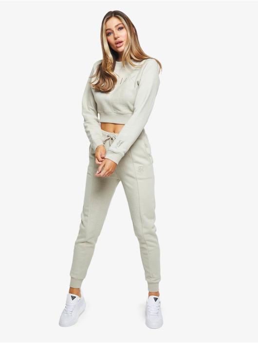 Sik Silk Pullover Half Cropped grey