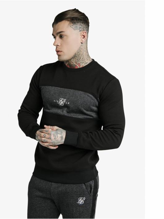 Sik Silk Pullover Crewer schwarz