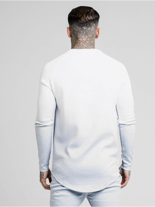 Sik Silk Pullover Marble Fade Performance Crew weiß