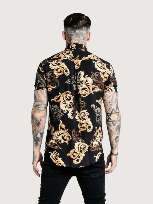 Sik Silk Shirt High Collar Resort black