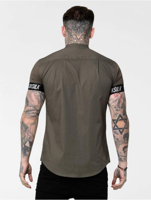 Sik Silk Shirt Tech Tape Grandad khaki