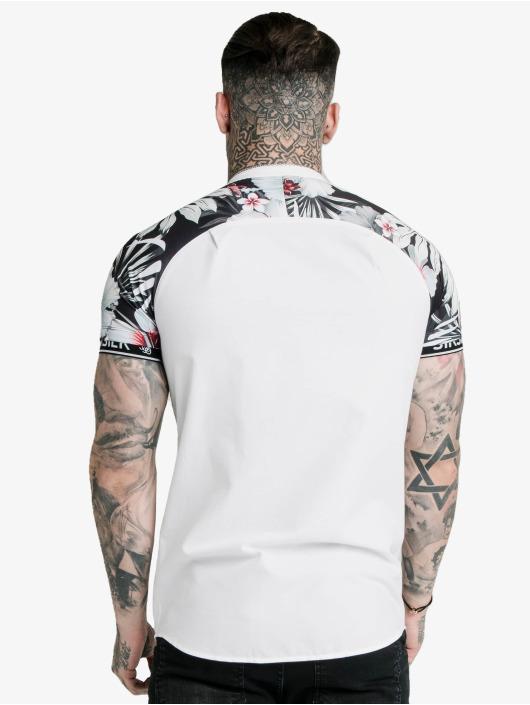 Sik Silk Shirt Floral Raglan Tech white
