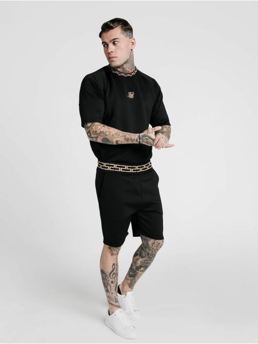 Sik Silk Short Chain Rib Relaxed black