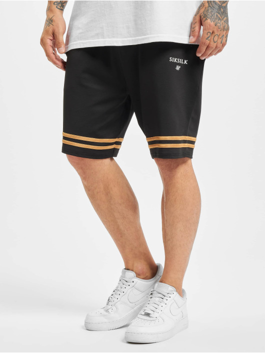 Sik Silk Short Relaxed Mesh Bound gold colored