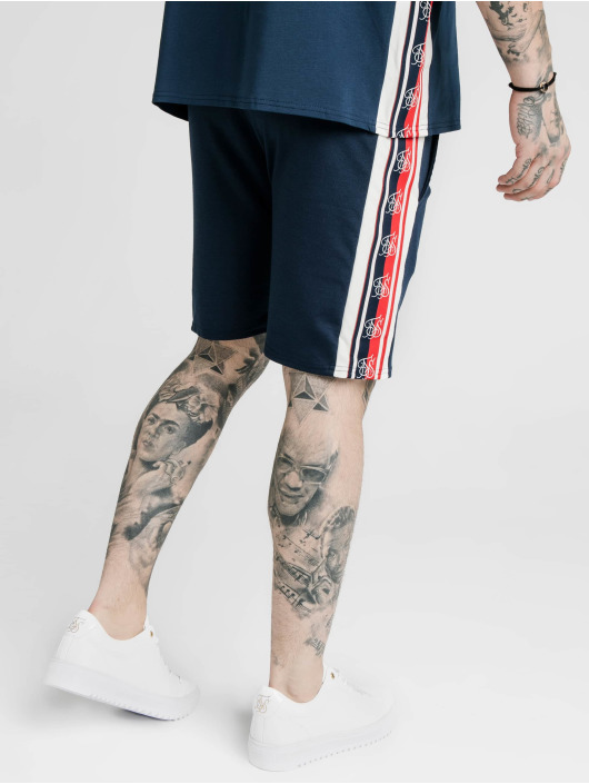 Sik Silk Shorts Retro Tape Relaxed Fit blå