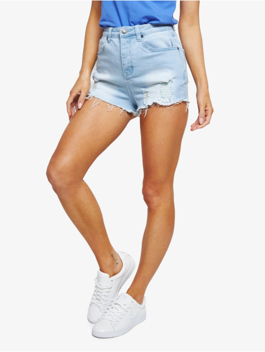 Sik Silk Shorts Distressed Skinny blau