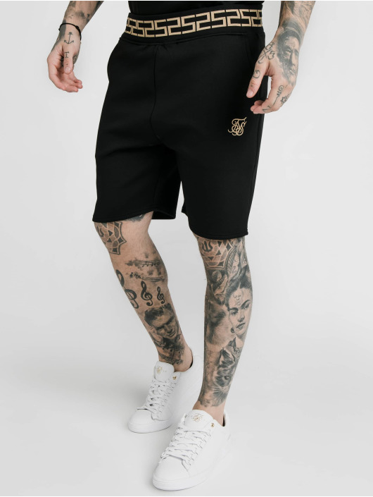 Sik Silk Shorts Chain Rib Relaxed svart