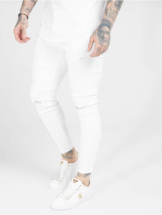 Sik Silk Skinny Jeans Skinny bialy