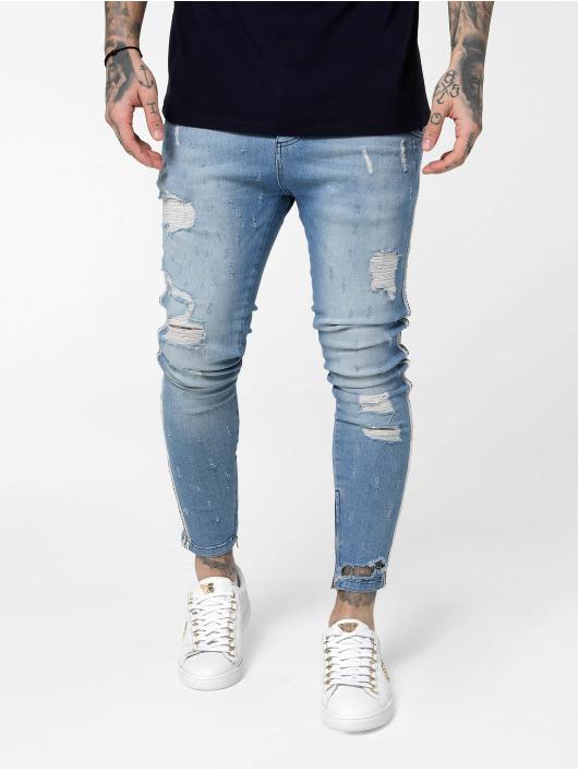 Sik Silk Skinny Jeans Low Rise blå