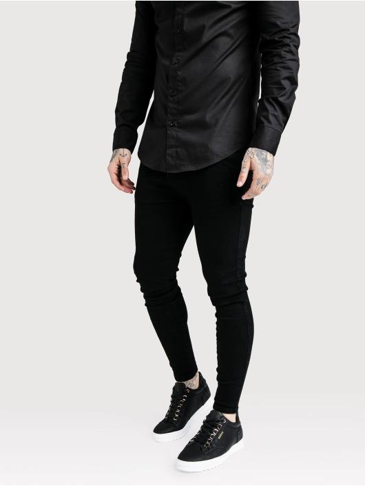 Sik Silk Skinny Jeans Low Rise black