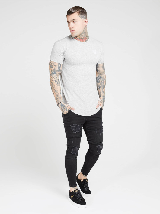 Sik Silk Skinny Jeans Distressed black