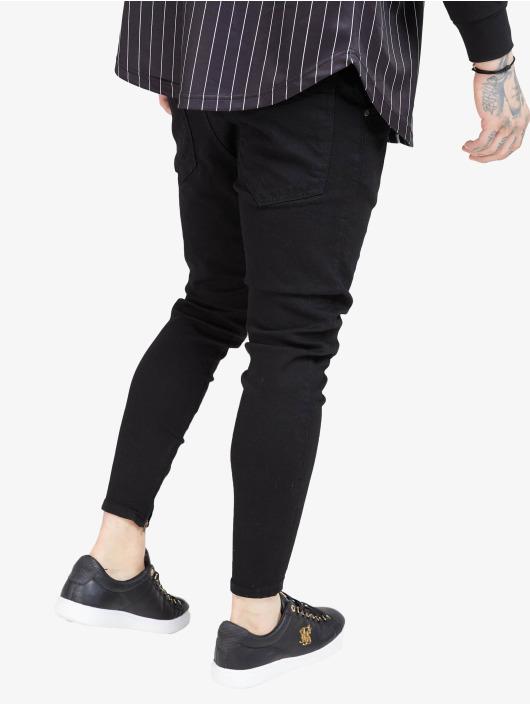 Sik Silk Skinny Jeans Drop Crotch black