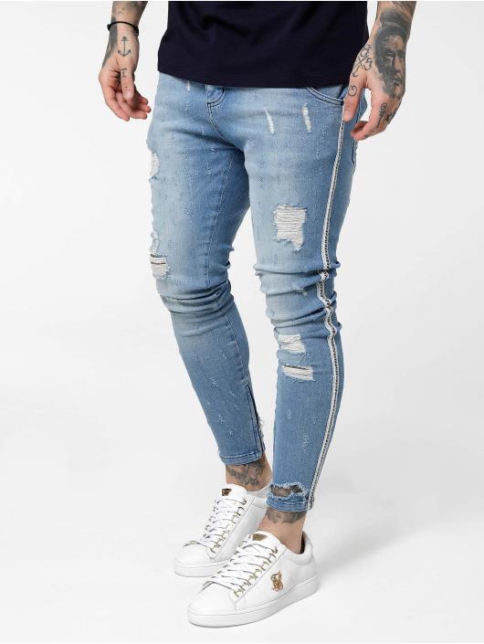Sik Silk Skinny jeans Low Rise blauw