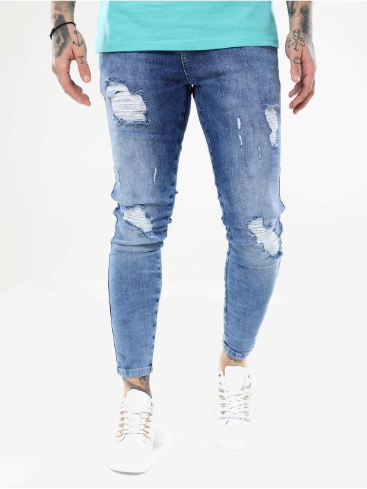 Sik Silk Skinny Jeans Distressed blue