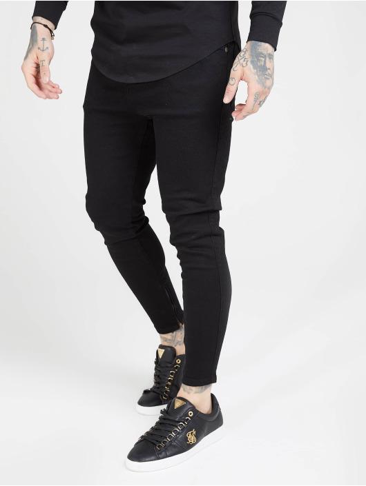 Sik Silk Skinny Jeans Drop Crotch czarny