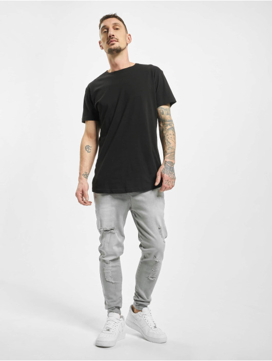 Sik Silk Skinny Jeans Elasticated Distressed grey