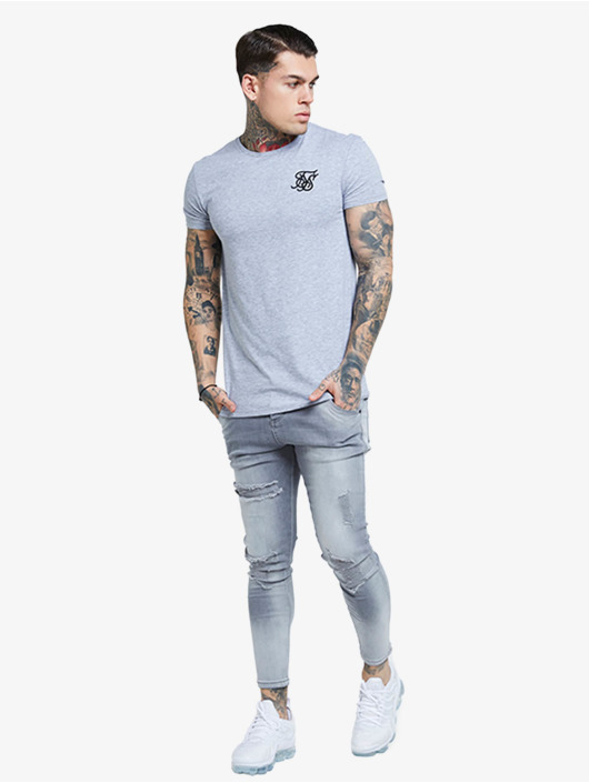 Sik Silk Skinny Jeans Distressed grey