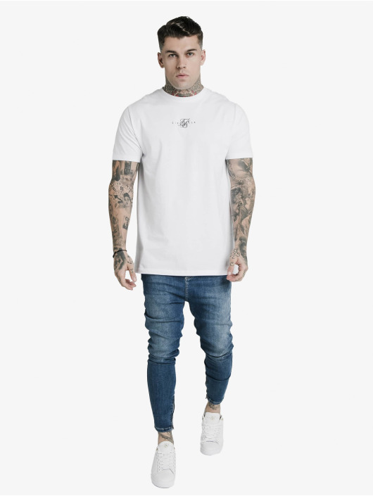 Sik Silk Skinny Jeans Drop Crotch niebieski