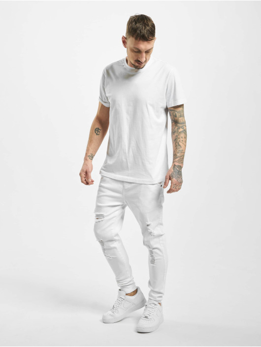Sik Silk Skinny Jeans Distressed weiß