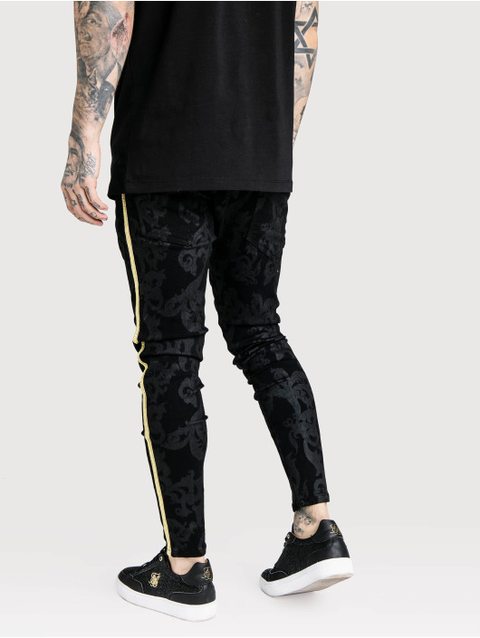 Sik Silk Skinny jeans Low Rise zwart