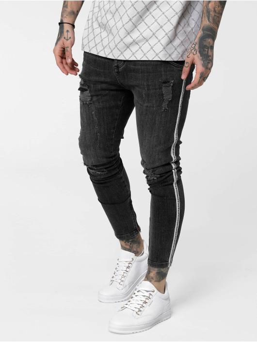 Sik Silk Skinny jeans Low Rise Denims zwart