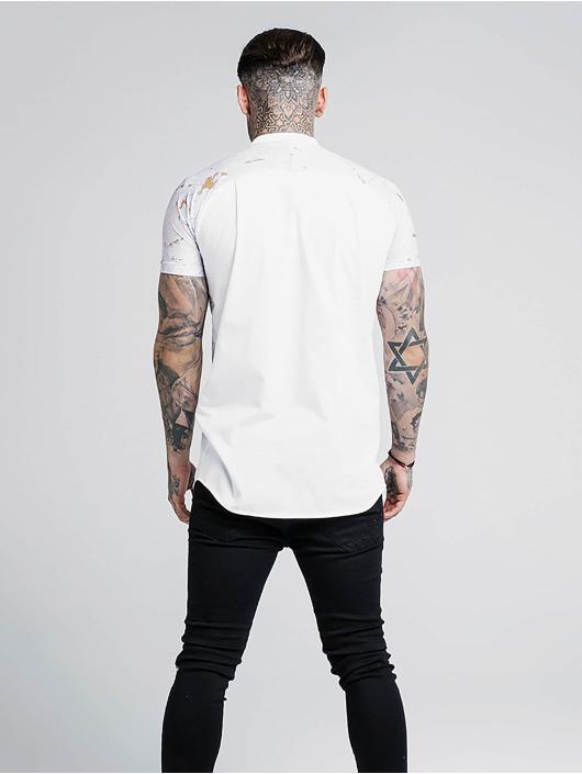Sik Silk Skjorter Marbleise Grandad Collar hvit