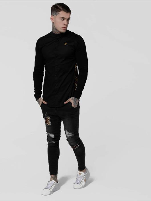 Sik Silk Skjorter Royal Venetian Muscle Fit Slide svart