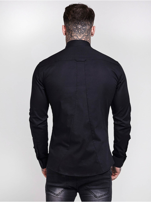 Sik Silk Skjorter Cotton Stretch svart