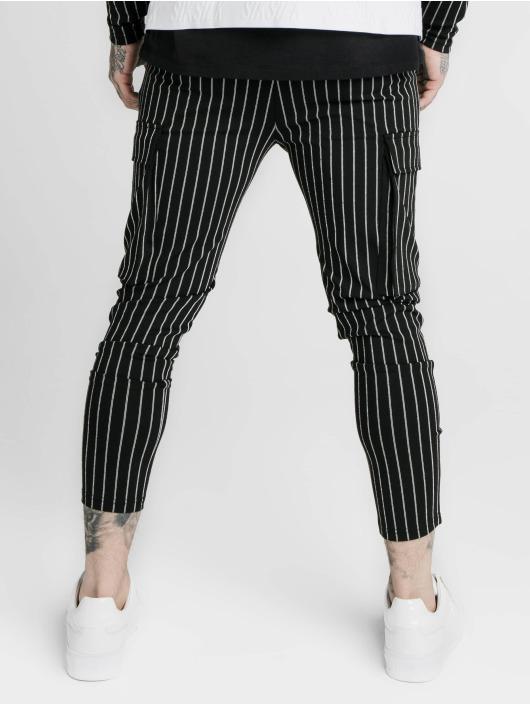 Sik Silk Spodnie Chino/Cargo Siksilk Pinstripe czarny