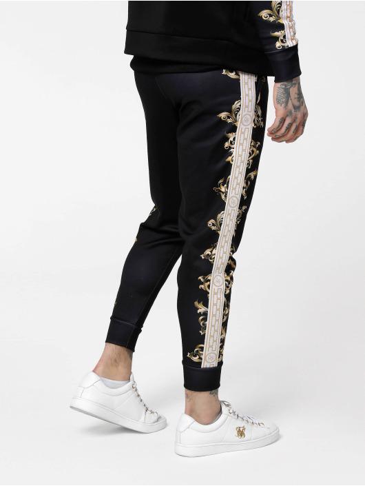 Sik Silk Spodnie do joggingu Black Edition Poly Cuffed czarny