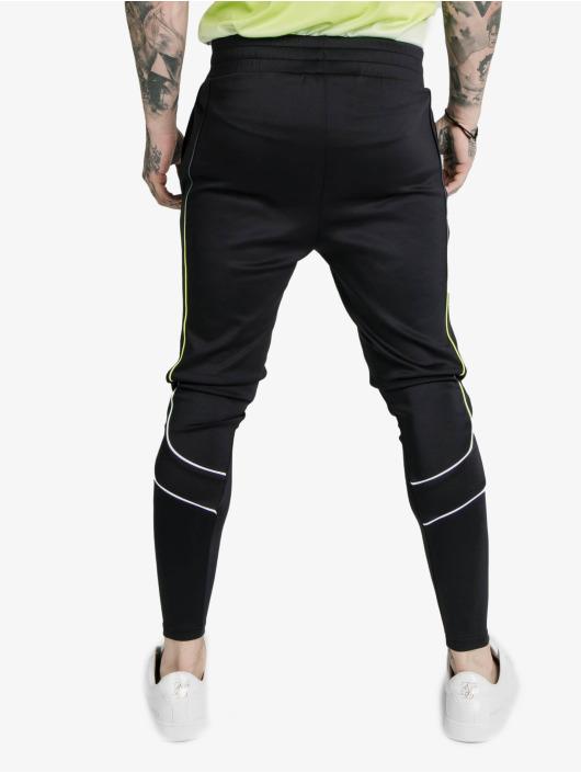 Sik Silk Spodnie do joggingu Tri Fade Tape czarny