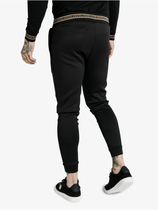 Sik Silk Spodnie do joggingu Element Muscle Fit Cuffs czarny